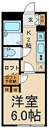 埼玉県春日部市大場の賃貸アパートの間取り