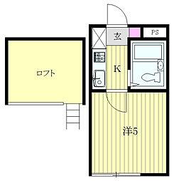 神奈川県相模原市中央区相模原2丁目の賃貸アパートの間取り