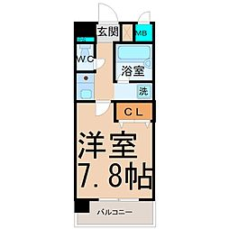 愛知県名古屋市西区栄生1丁目の賃貸マンションの間取り