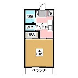 植木ハイツB[1階]の間取り