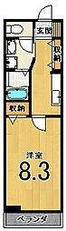 ラフレシール太秦Ⅱ[202号室]の間取り