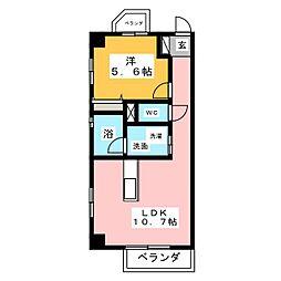 味仙第3マンション[5階]の間取り