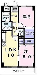 高そねマンション[603号室]の間取り