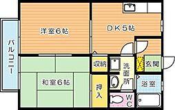 ウィンディア穴生II[2階]の間取り