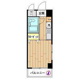 モナークマンション川崎[0501号室]の間取り
