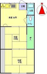 メゾン茨田[2-B号室]の間取り