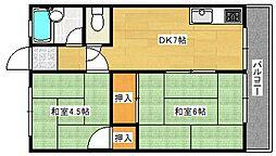 広島県広島市南区宇品西1丁目の賃貸マンションの間取り