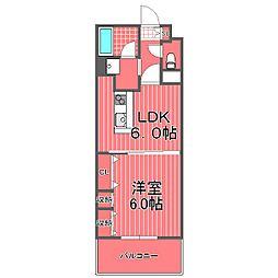 神奈川県横浜市西区高島2丁目の賃貸マンションの間取り