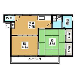 コウジイコート[2階]の間取り