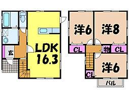 [一戸建] 愛媛県松山市山西町 の賃貸【/】の間取り