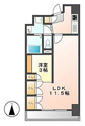 コージィーコート新栄[5階]の間取り