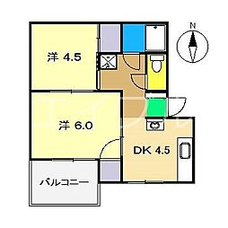 ジョージハウス[3階]の間取り