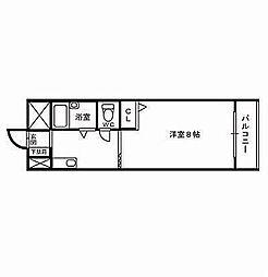 メゾンゆみ[5階]の間取り