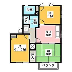 テクノハイツ藤 B[2階]の間取り