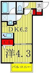 S-RESIDENCE赤羽 1階1DKの間取り