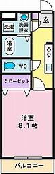 ウエストガーデン[1階]の間取り