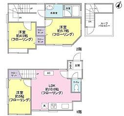 [一戸建] 神奈川県横浜市南区南太田4丁目 の賃貸【/】の間取り