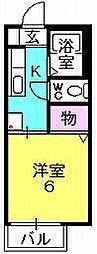 エアフォル夙川[106号室]の間取り