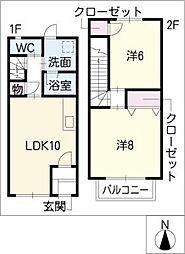 [タウンハウス] 三重県四日市市大字塩浜 の賃貸【/】の間取り