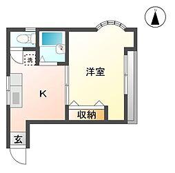 静岡県三島市加屋町の賃貸アパートの間取り