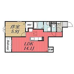 JR成田線 成田駅 バス19分 富里小学校下車 徒歩1分の賃貸アパート 1階1LDKの間取り