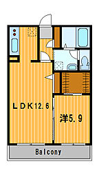 神奈川県川崎市幸区小倉4丁目の賃貸マンションの間取り
