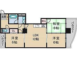 グラントピア新大阪[3階]の間取り