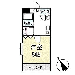 アイランドB 1階[104号室]の間取り