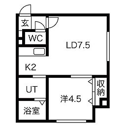 アイルVIP[3階]の間取り