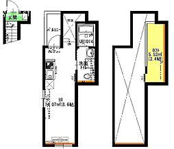 名古屋市営名城線 ナゴヤドーム前矢田駅 徒歩3分の賃貸アパート 3階1SKの間取り