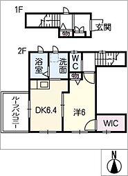 クレインコート I[2階]の間取り