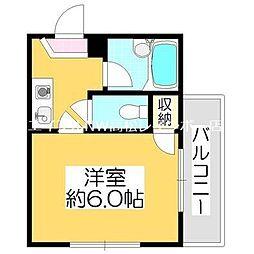 香川県高松市宮脇町2丁目の賃貸アパートの間取り