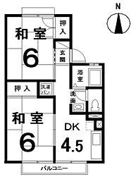 パレーシャル塚本[2階]の間取り