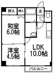 ソシアルコートK3・4[1階]の間取り