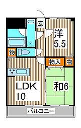 楽風[4階]の間取り
