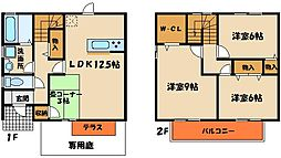 [テラスハウス] 兵庫県神戸市西区二ツ屋2丁目 の賃貸【/】の間取り
