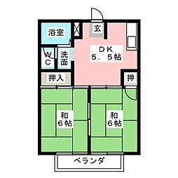 ラフォーレ新正B棟[2階]の間取り