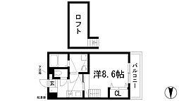 フルール花屋敷[1階]の間取り