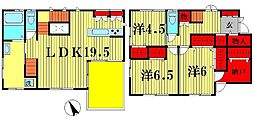 [一戸建] 千葉県松戸市上矢切 の賃貸【千葉県 / 松戸市】の間取り