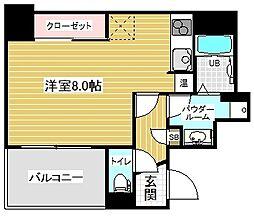 アスヴェル神戸元町2 3階1Kの間取り