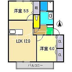 シンフォニー A棟[2階]の間取り