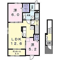 OHANA I[2階]の間取り
