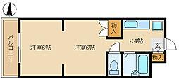 兵庫県尼崎市南武庫之荘5丁目の賃貸マンションの間取り