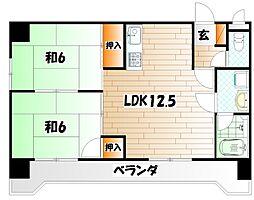 GRADO小倉南[6階]の間取り