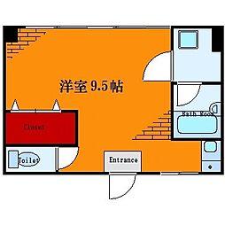 東京都墨田区業平2丁目の賃貸マンションの間取り