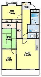 愛知県豊田市曙町3丁目の賃貸マンションの間取り