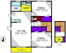 東京都立川市柴崎町6丁目の賃貸アパートの間取り