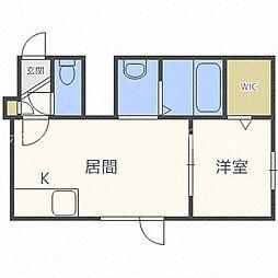北海道札幌市東区北二十五条東16丁目の賃貸アパートの間取り