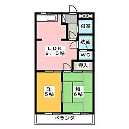 ウイン花の木[2階]の間取り