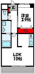 仮称)上府北2丁目アパート[203号室]の間取り